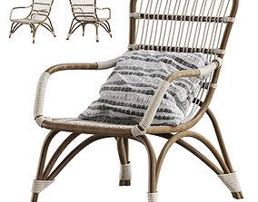 3D Moka natural rattan armchair