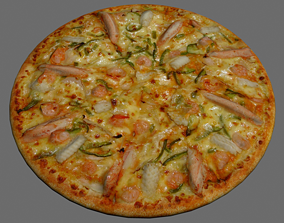 Pizza seafood 3D model