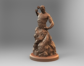 3D printable model deco Self sculpting man
