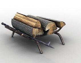 3D asset Firewood Storage Rack