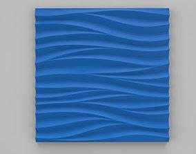 art decorative 3d panel wave