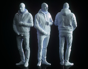 3D model realtime Male Closing Jacket