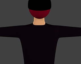 rigged character model Rigged with IK