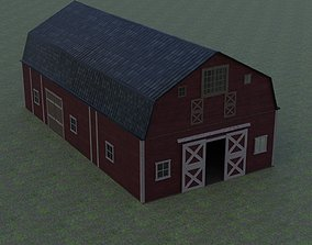 realtime 3d model of the barn Low poly