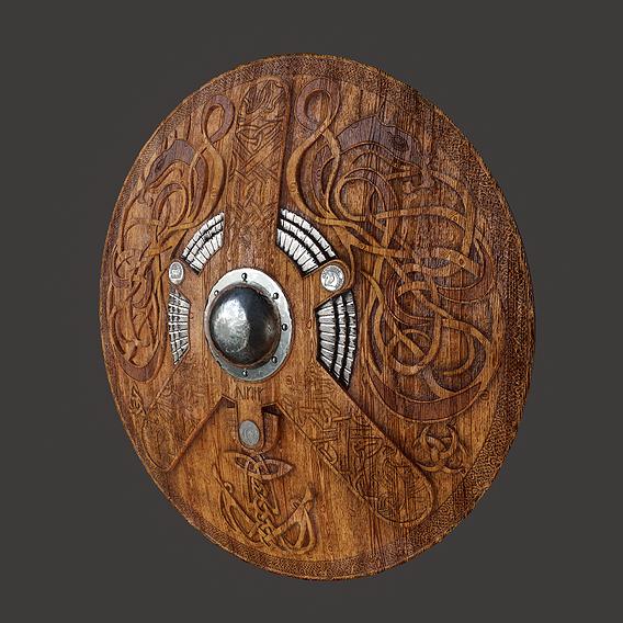 Serpent Viking Shield