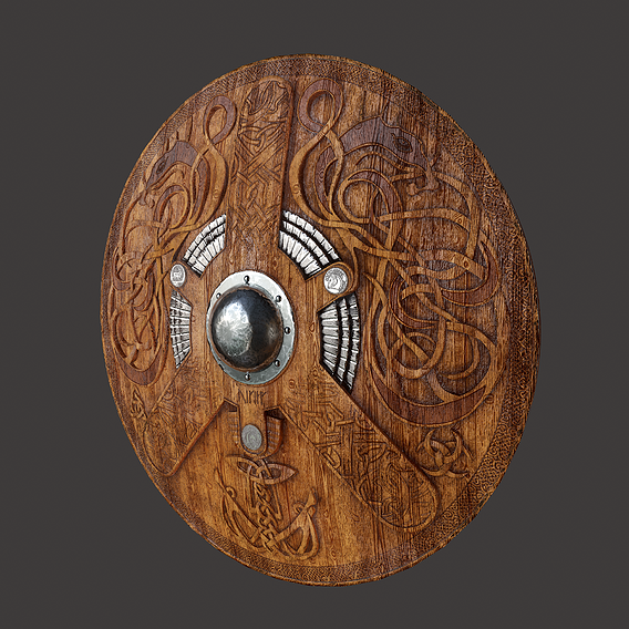 Serpent Viking Shield
