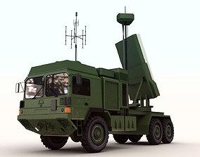 Military Surveillance Radar Truck 3D