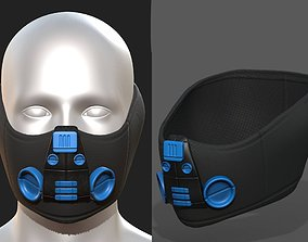 VR / AR ready Gas mask respirator scifi futuristic