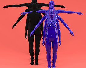 3D asset 3 piece Fitting Female Fashion Mannequin set