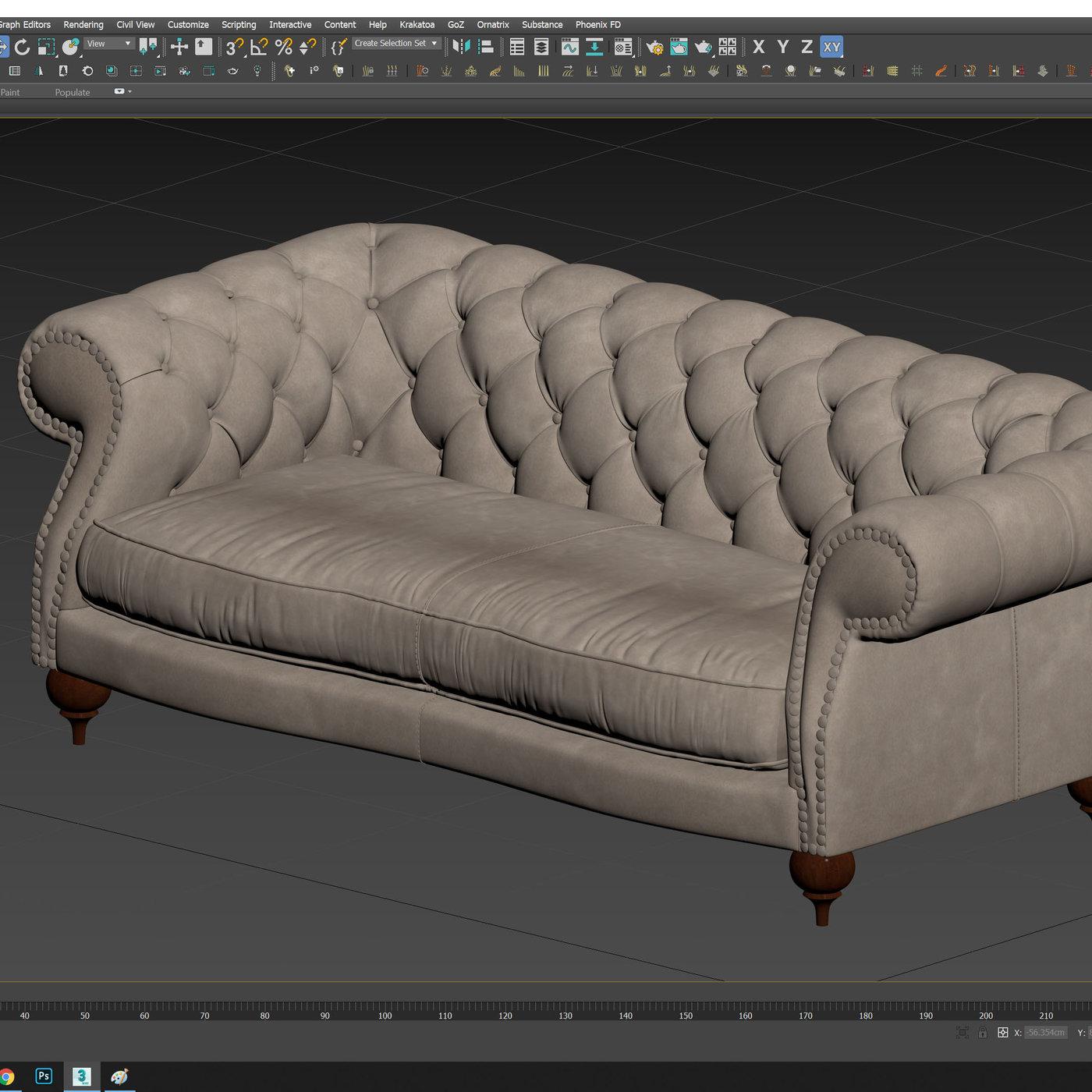 Diana Sofa 3D Model II