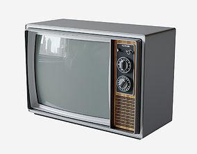 Vintage Television Set 3D model