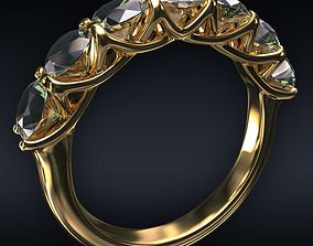 3D model Ring 7 round stones
