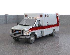 3D model Ford E450 Ambulance