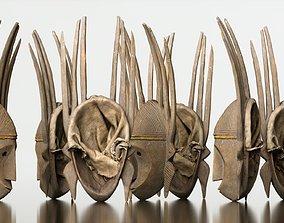 3D model Afrikan Mask Carved Wood 48