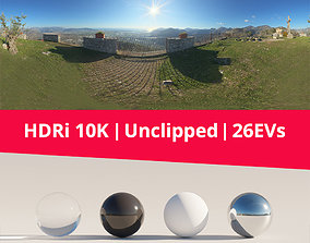 3D model HDRi Mountains and Panorama outdoor