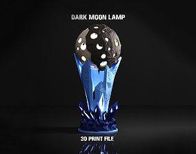 3D printable model Dark Moon Lamp decor