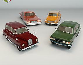 3D Low Poly Sedan Pack 03