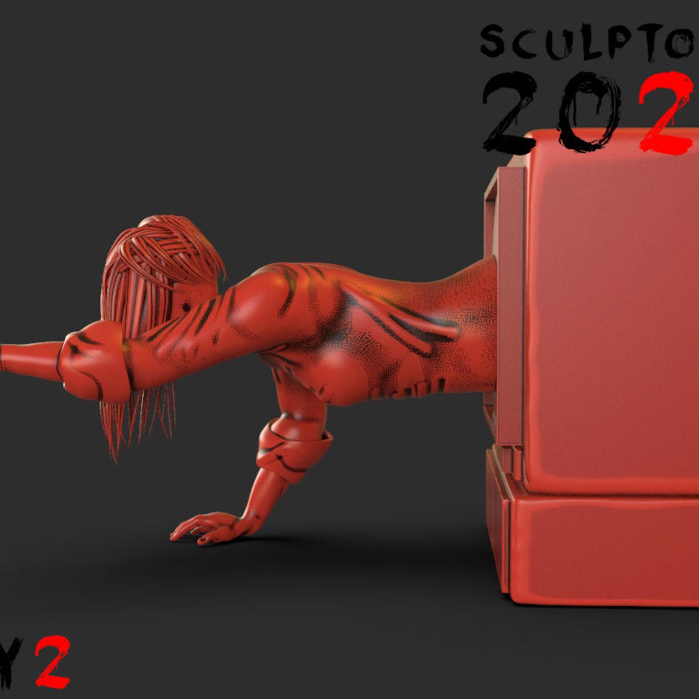 Sculptober Day 02 Sadako