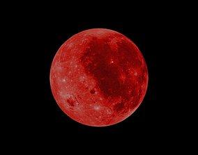 3D asset Red Moon