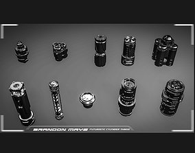 Kitbash CAD sci-fi cylinders 3D
