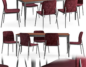 Table and chair Torina Newport 3D