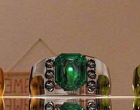 3D asset Emerald Ring
