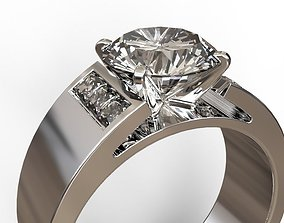Marriage ring 3D printable model platinum