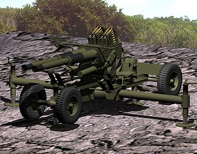 Bofors twin 40mm anti-aircraft gun printable hobby-diy