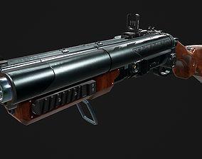 Double Barreled Shotgun 3D asset