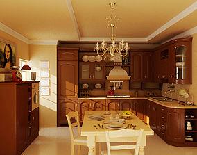 burners Modern Kitchen 3D