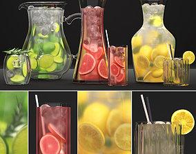 Beverages Collection 3D model