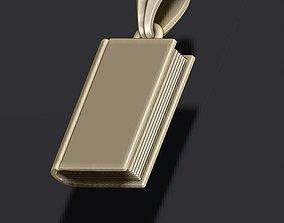 necklace 3D print model Book pendant