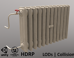 Old Radiator Cream 3D model