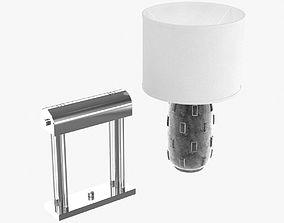 Banker table lamp and boulder table lamp 3D