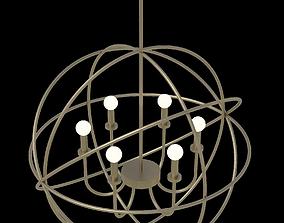 Ceiling hung light fixture interior architectural 3D asset
