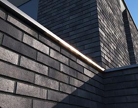 Dark clinker brick large surface 3D