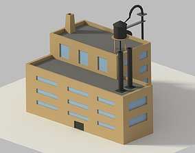 3D asset realtime Low Poly Cartoon Refinery
