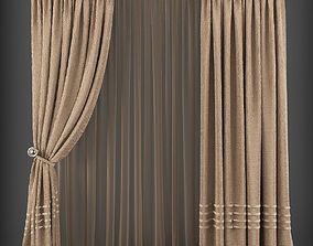 Curtain 3D model 196 VR / AR ready