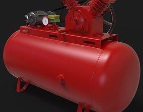 2 Hp Air Compressor 3D model