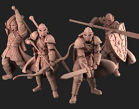 3D print model Elite Guards Bundle men