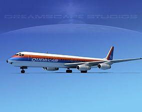 3D Douglas DC-8-63 Quebec Air