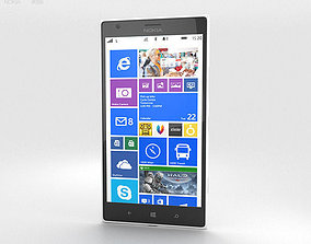 3D Nokia Lumia 1520 White