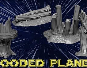 wood 3D print model Wooded Planet