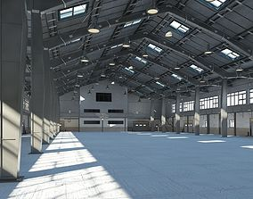 animated Warehouse interior and exterior model 2