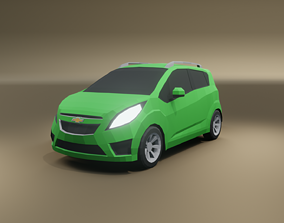 Chevrolet Spark low poly 3D model low-poly