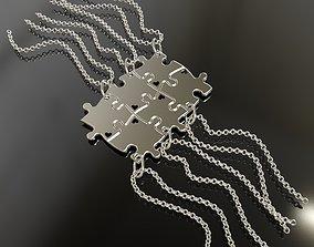 3D printable model Puzzle pendants six friends C0-3000084