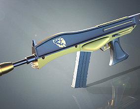 3D asset MK-87 Concept rifle gun