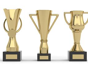 league 3D model Cups Trophy