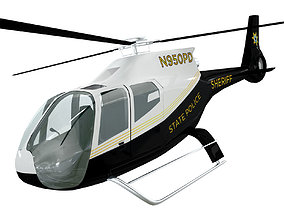 Police Helicopter model 3D