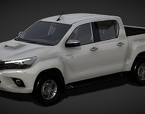 game-ready Toyota Hilux Pickup Truck 3D Model